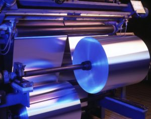 machine processing thin aluminum foil